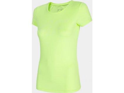 Damska koszulka funkcyjna 4F TSDF004 zielony neon