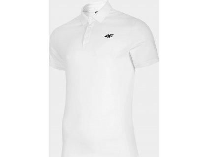 Męska koszulka polo 4F TSM007 biała