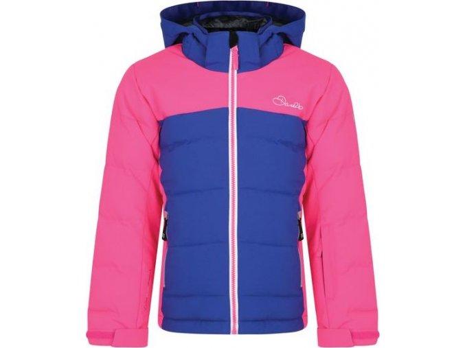 Dziecięca kurtka zimowa Dare2B DKP334 IMPROV niebiesko-różowa