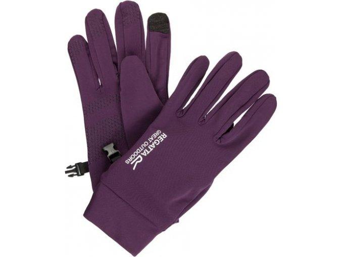 Damskie rękawiczki softshell Regatta RMG009 TOUCHTIP Stretch BlkberryWine