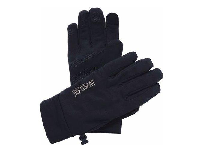 Damskie rękawiczki softshell Regatta RMG009 TOUCHTIP Stretch Black