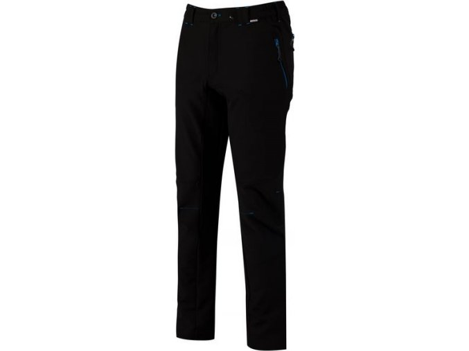 Męskie spodnie outdoorowe RMJ190R QUESTRA czarne/czarne