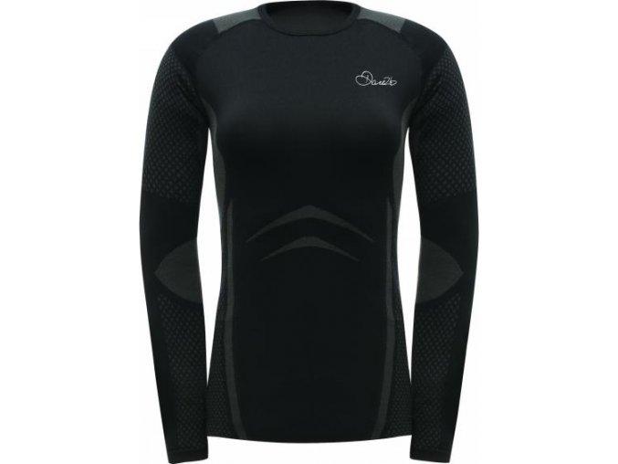 Damska koszulka termiczna Dare2B DWU301 ZONAL III L/S T czarna