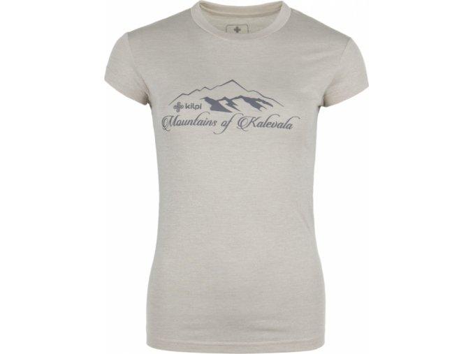 Damska koszulka T-shirt KILPI GAROVE-W jasnoszara