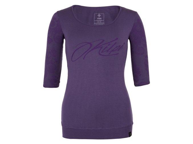 Damska koszulka z rękawem 3/4 KILPI PIPA-W fioletowa