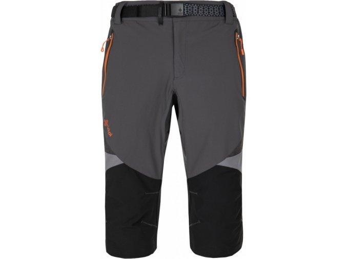 Męskie spodnie 3/4 funcijonalne KILPI TERRAIN-M Ciemnoszare
