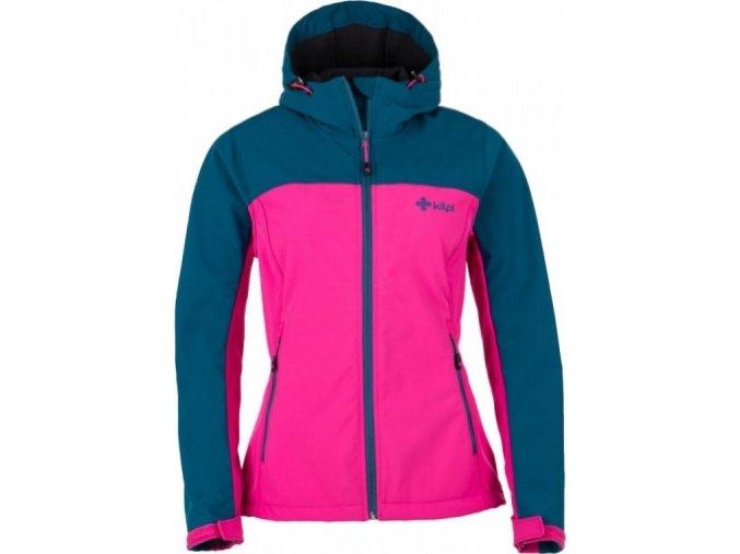 Dziewczęca kurtka softshellowa KILPI ELIA-J niebiesko-różowa