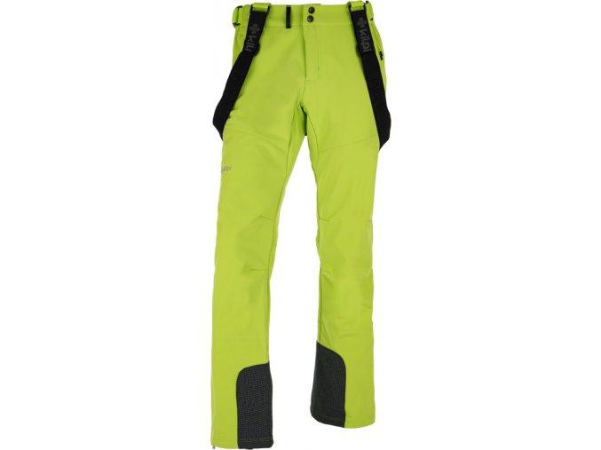 Męskie spodnie softshell KILPI RHEA-M  Jasnozielone