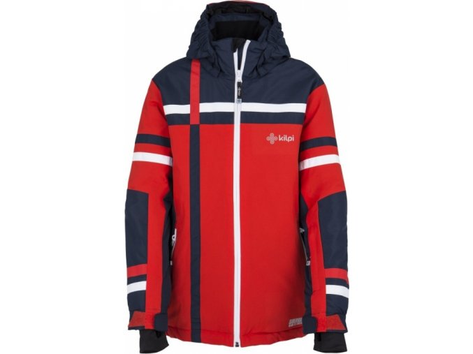 Dziecięca zimowa kurtka narciarska KILPI TITAN-JB czerwona