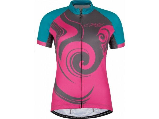 Damski koszulka rowerowa KILPI FOXIERA-W różowa