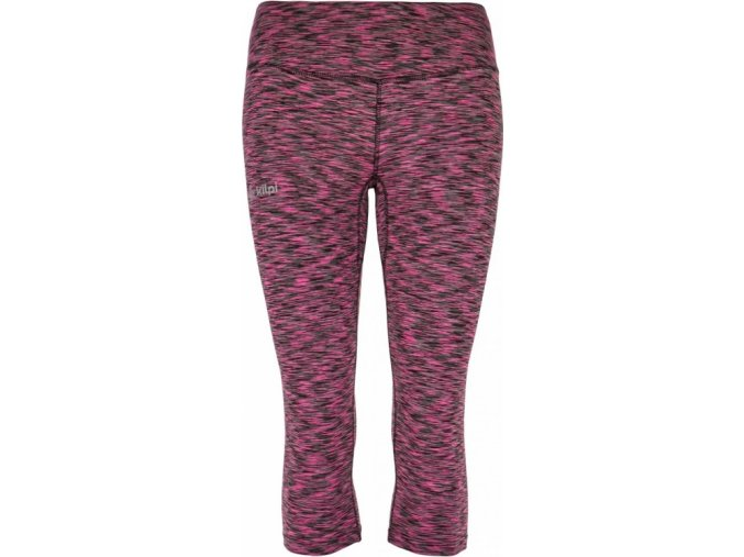 Damskie spodnie 3/4 elastyczne KILPI SAMANA-W Różowe