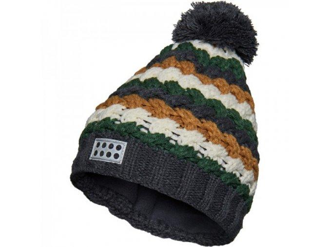 Chlapecká zimní čepice LEGO® Wear AIDEN 720 Zelená