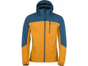 Męska kurtka softshellowa KILPI ELIO niebieska/pomarańczowa