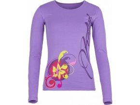 Damska koszulka KILPI ORNAMENT-W fioletowa