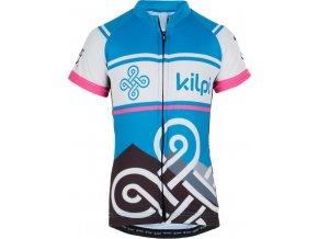 Dziecięca koszulka rowerowa KILPI SEPTIMA-K Różowa
