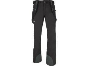 Męskie spodnie zimowe softshell  KILPI EZRA EZRA Czarne