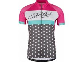 Damska koszulka rowerowa KILPI DOTTY-W różowa