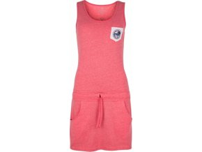 Bawełniana sukienka dla kobiet KILPI FANTASIA-W Różowa