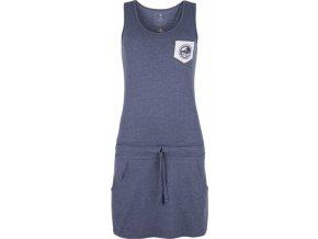 Bawełniana sukienka dla kobiet KILPI FANTASIA-W Niebieska
