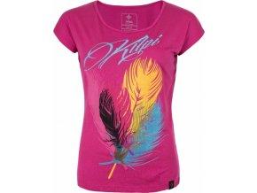 Damska koszulka KILPI PLUMA-W Różowa