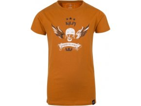 Chłopięca koszulka KILPI SKULL-JB pomarańczowa