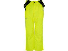 Spodnie narciarskie chłopięce KILPI METHONE-JB Żółte