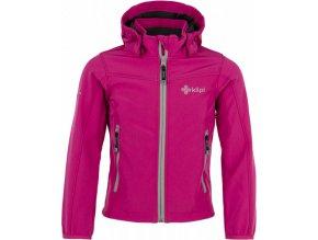 Dziewczęca kurtka softshellowa  KILPI ELIA-JG różowa