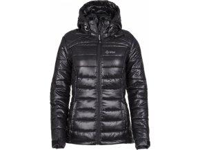 Dámská zimní prošívaná bunda KILPI GIRONA-W Černá