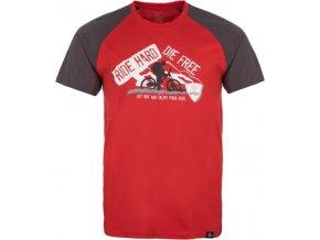 Chłopięca koszulka KILPI BIKER-JB czerwona