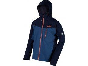 Męska kurtka outdoorowa Regatta RMW279 BIRCHDALE niebiesko-pomarańczowy