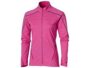 Kurtka do biegania damska softshell Asics LITE SHOW Winter Różowa