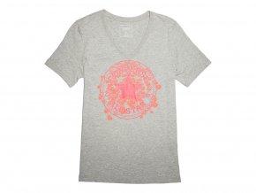 Damska koszulka Converse Daisy CP Vneck Tee szara