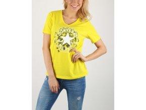 Damska koszulka Converse Daisy CP Vneck Tee żółta
