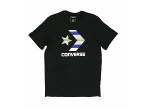 Męska koszulka  Converse Star chevron Stripe Fill tee czarna