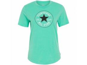 Damska koszulka Converse core solid Chuck Patch crew zielona
