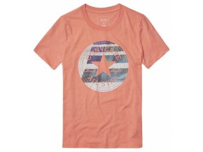 Damska koszulka Converse Photo fill Chuck Patch tee pomarańczowa