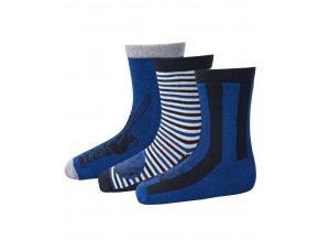 Skarpety chłopięce 3 pary LEGO® Wear AYAN 701 Niebieska