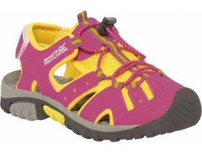 Junior sandały  Regatta RKF413 DECkSIDE JNR Różowy / żółty kolor