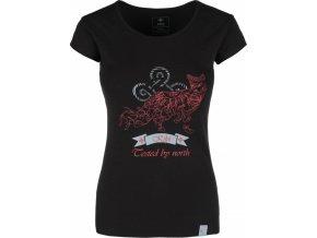 Koszulka bawełniana damska KILPI FOXY-W Czarna 18