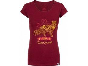 Koszulka bawełniana damska KILPI FOXY-W Bordowa