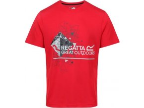 Męska koszulka Regatta RMT162 FINGAL III Czerwona