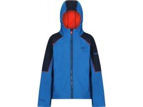 Dziecięca kurtka softshellowa Regatta RKL078 ACIDITY II niebieska