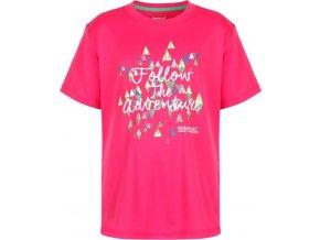 Dziewczęca koszulka Regatta RKT079 ALVARADO III Różowa