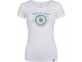 Damska koszulka bawełniana KILPI CAMI-W biała
