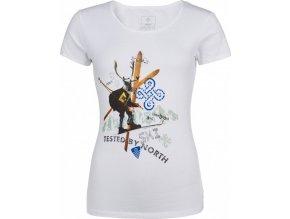 Damska koszulka bawełniana KILPI FUNNY-W biała