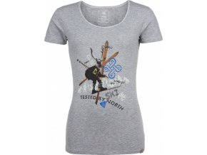 Damska koszulka bawełniana KILPI FUNNY-W szara