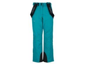 Dziewczęce spodnie narciarskie KILPI ELARE-JG turkusowe 19