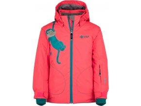 Dziewczęca kurtka narciarska KILPI CINDY-JG różowa 19