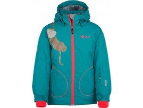 Dziewczęca kurtka narciarska KILPI CINDY-JG turkusowa 19