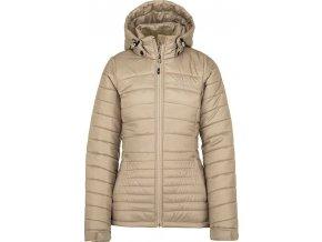 Damska pikowana kurtka zimowa KILPI GIRONA-W beżowa 19